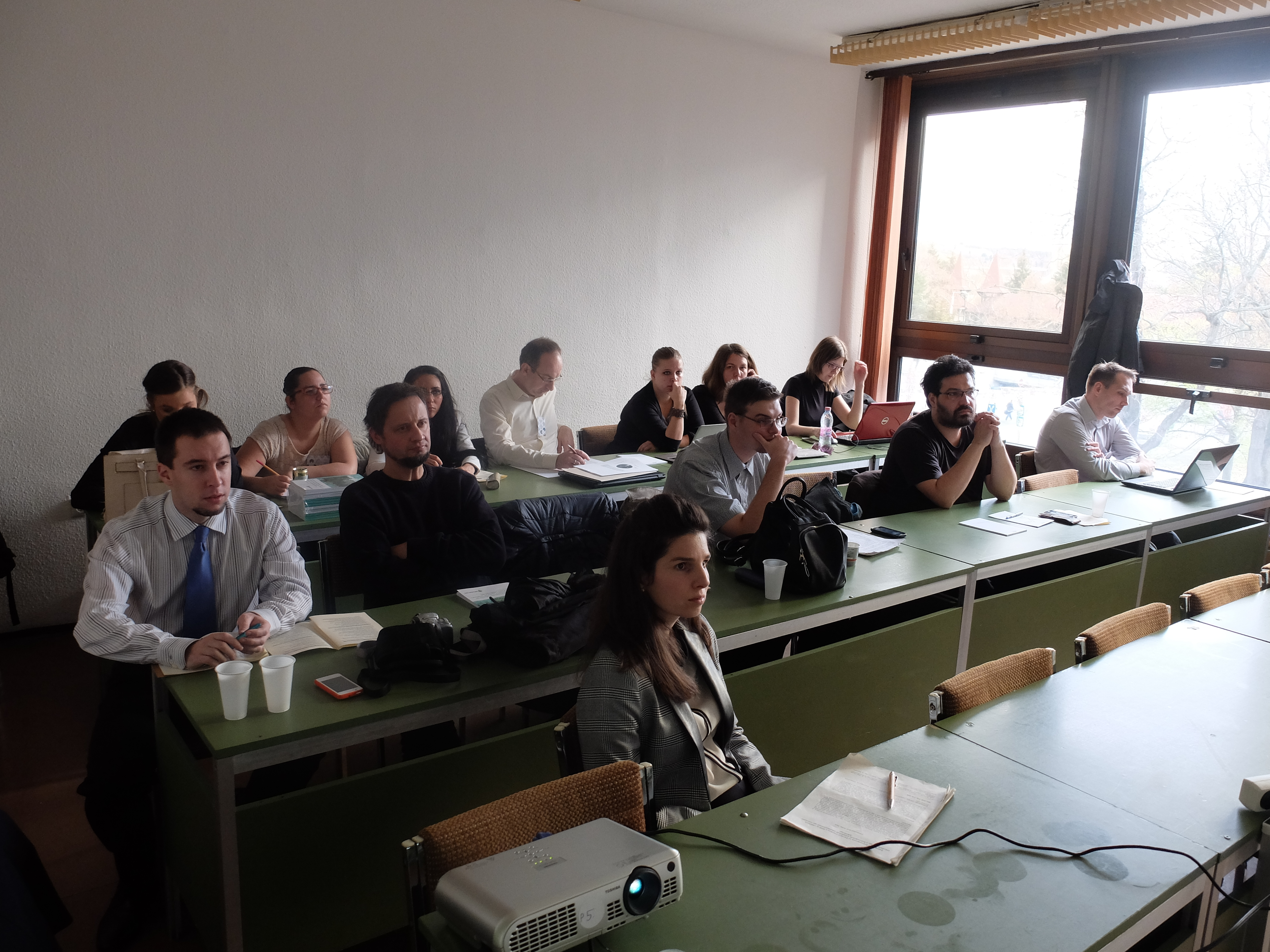 A klímaváltozás társadalmi-gazdasági hatásai szekció hallgatósága a Magyar Regionális Tudományi Társaság XIII. Vándorgyűlésén, Egerben, 2015. november 20-án