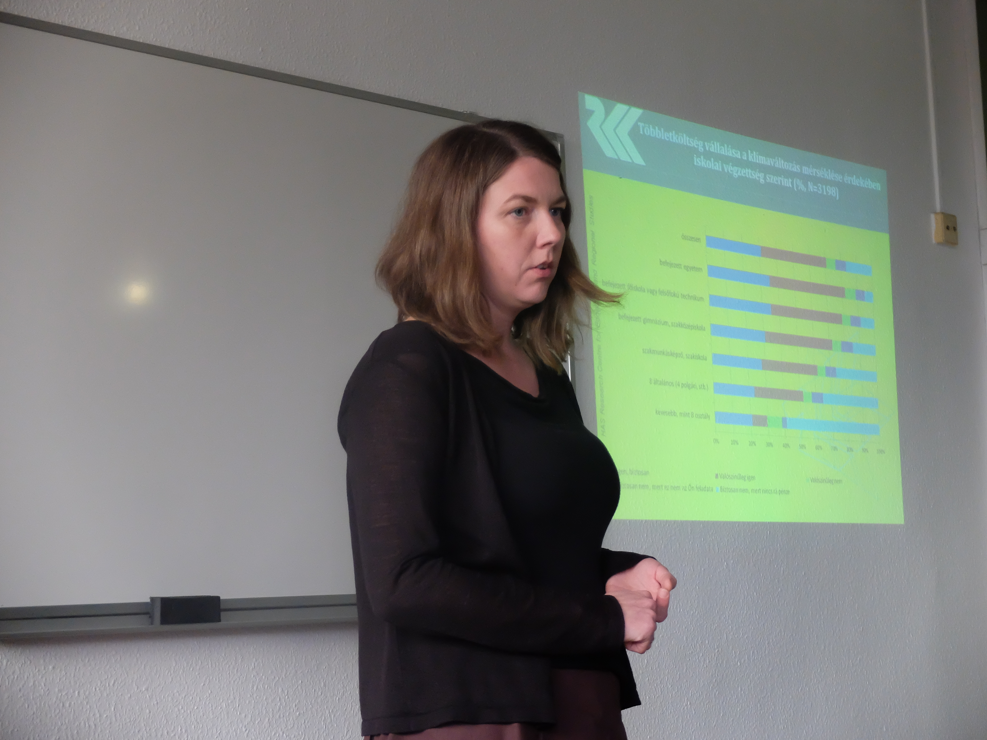 Baranyai Nóra előadása a Magyar Regionális Tudományi Társaság XIII. Vándorgyűlésén, Egerben, 2015. november 20-án